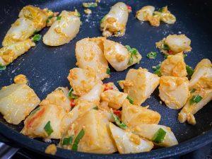 筊白筍料理-鹹蛋茭白筍-炒茭白筍