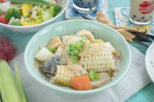 筊白筍料理-時蔬茭白筍茶湯