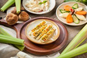 筊白筍料理-金沙茭白筍(鹹蛋茭白筍)