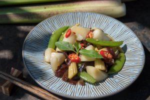 筊白筍料理-茭白筍繪鮮蔬