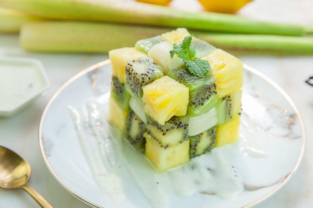 筊白筍料理-茭白筍水果方塊(香草籽料理)