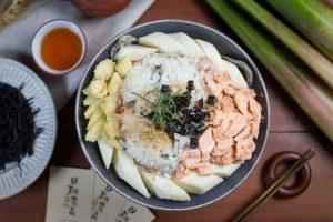 筊白筍料理-茭白筍紅茶泡飯