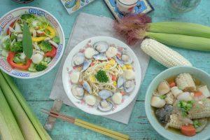 筊白筍料理-香草籽白醬茭白筍麵