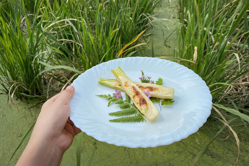 【烤茭白筍】如何用烤箱帶殼烤茭白筍、焗烤茭白筍